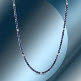 14K Gold 10.40cts Sapphire & 0.62cts Diamond Necklace