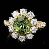 14k Gold 3.00ct Tourmaline 1.60ct Diamond Ring