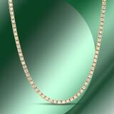 14K Gold 4.46cts Diamond Necklace