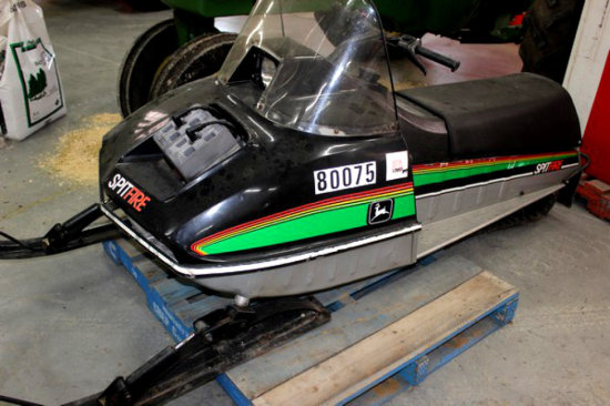 John Deere Spitfire Snowmobile