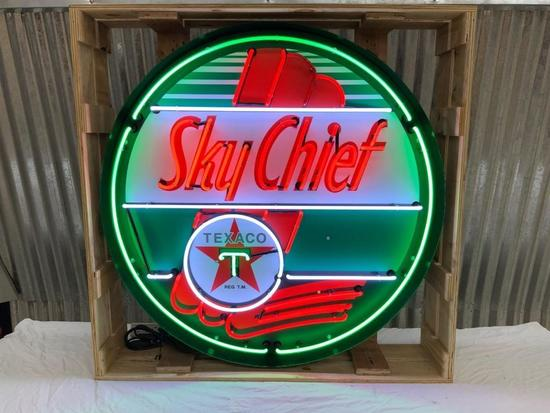 Sky Chief Neon Can Sign