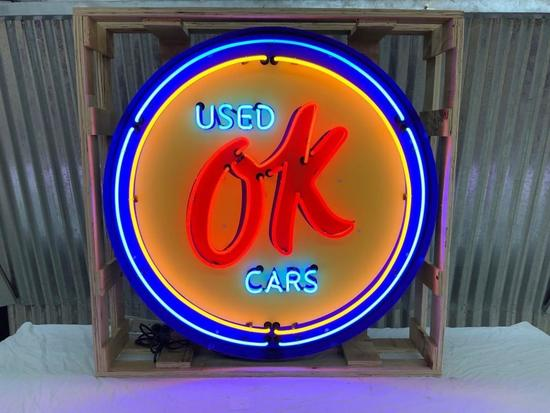 OK Used Car Neon Sign