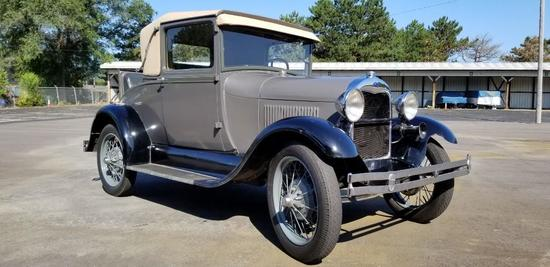 1928 Model A Sport Coupe, Selling No Reserve!