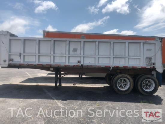 1977 East 28 Foot dump trailer