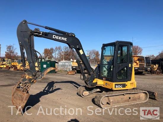 2015 Deere 50G Rubber Track Excavator