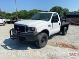 2002 Ford F-350 4x4 Flat Bed Truck