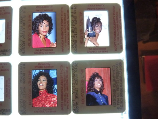 Whitney Houston Celebrity Slide Photograph Collection