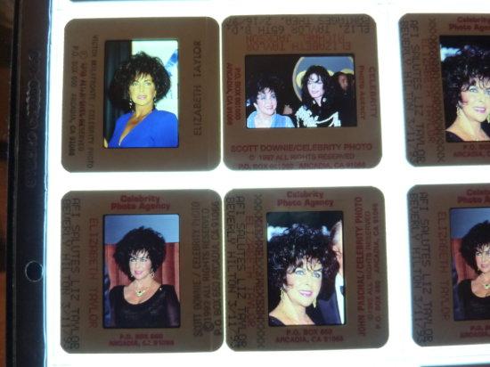 Elizabeth Taylor Celebrity Slide Photograph Collection