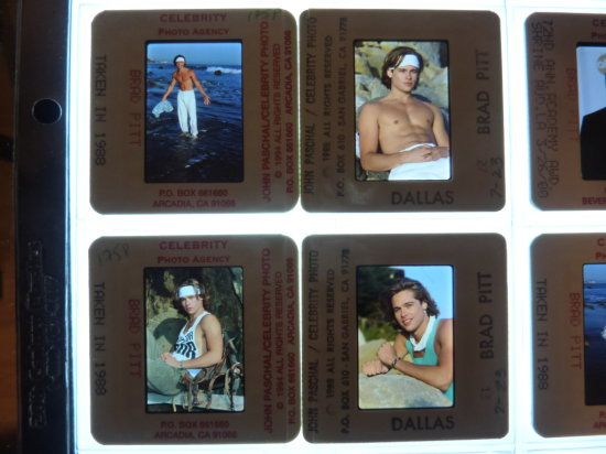 Brad Pitt Celebrity Photograph Slide Collection