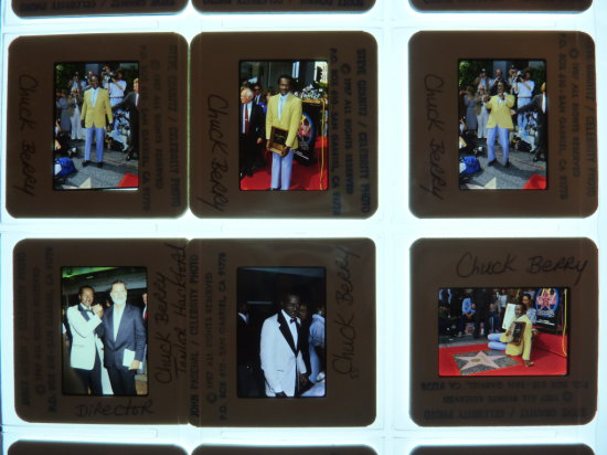Chuck Berry Celebrity Slide Photograph Collection