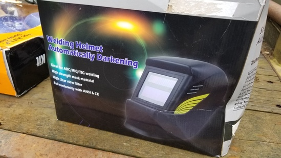 New Solar Powered Welding Helmet