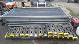 Lot - (15) Temp. Fencing & Stands