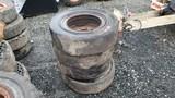 (4) Solid Skidsteer Tires