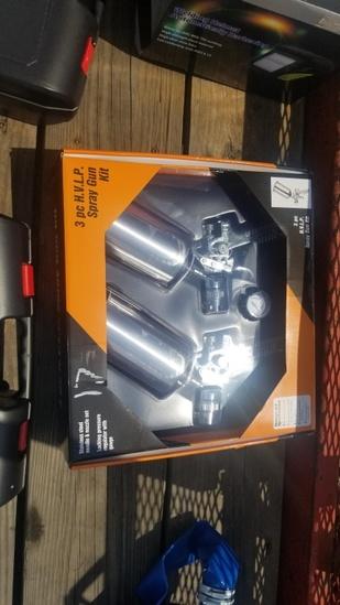 3 pc hvlp spray gun kit