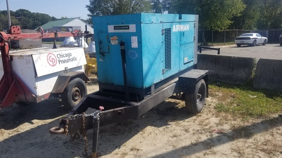 Airman Tow Behind Generator 8296 Hours, Runs