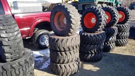 Titan HD skidsteer tires and rims