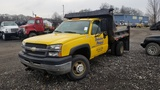 2004 Chevy 3500 6 wheel dump truck with plow