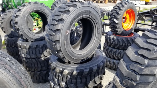 (4) Loadmax 12-16.5 Skidsteer Tires