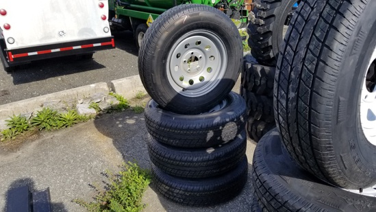 (4) Rainer St 205/75/15 Tires and Rims