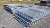 (25) Temporary 6x12 Fence Panels and Foot Stands