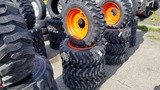 (4) Camso 10-16.5 Skidsteer Tires and rims