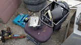 Lot shop light, welding helmets, makita drill,