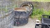 Lot Skidsteer Tires And Rims