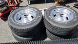 (4) 255/60/15 tires and rims