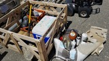 Large lot misc truck parks, lights, filters