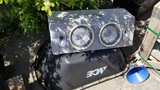 Lot subwoofers / wheel barrow