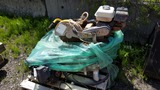 Lot mower engine and concrete saw