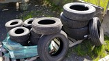 Lot - misc truck and trailer tires