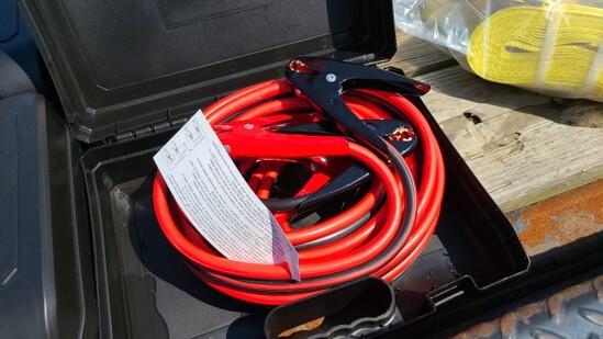 New Hd 25 Ft 1 Gauge Jumper Cables