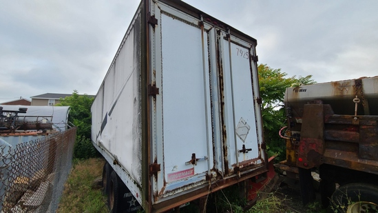 Fruehauf box trailer with contents