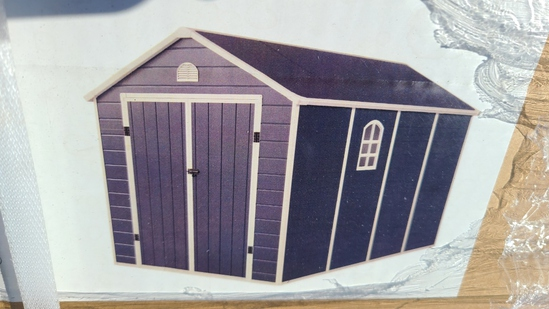 New 8' x 12' storage shed with floor