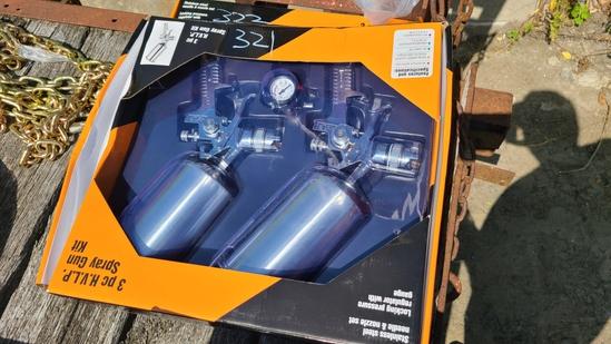 New 3pc. Air spray gun kit