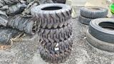 (4) Camso 12-16.5 Skidsteer Tires