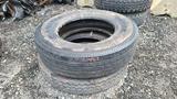 (2) Gladiator 11r24.5 tires