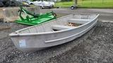 Aluminum boat with motor