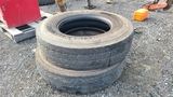 (2) continental 12r24.5 tires