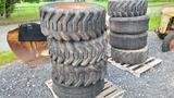 (4) Skidsteer Tires & Rims