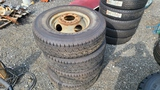 (4) 235/85/16 tires and rims