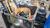 Rolling Bin With Assorted Hand Tools