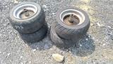 (4) Mower Wheels