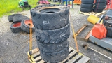 (4) 12-18 Skidsteer Tires and Rims