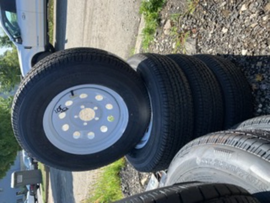 4 Towmax Tires and Rims ST205/75R15