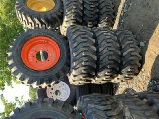 4 Camso Skidsteer Tires and Rims 12-16.5