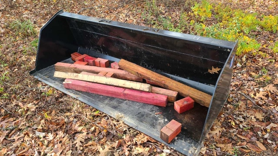 86 inch snow mulch bucket