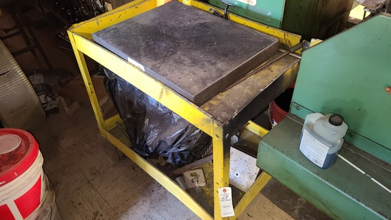 Cart with misc content and steel plate