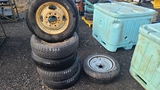 (6) 225 75 16 tires and rims